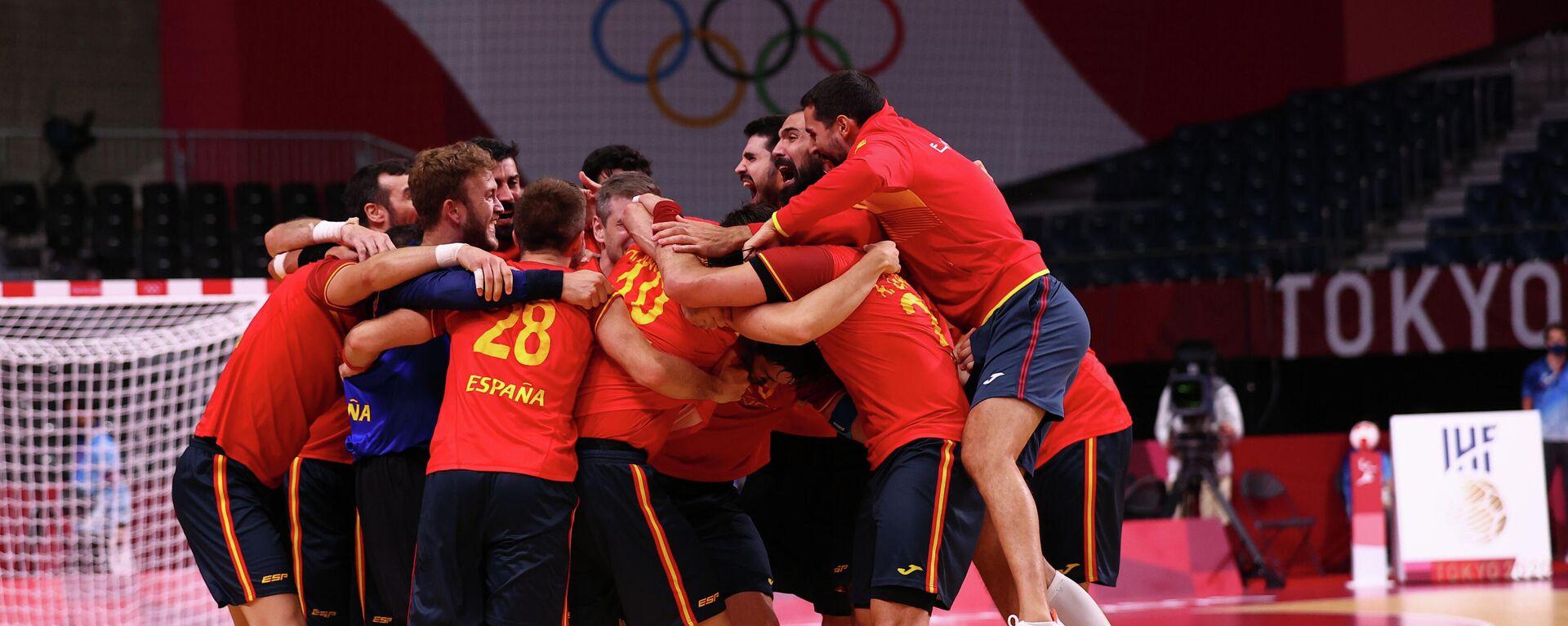 La selección española de balonmano masculino - Sputnik Mundo, 1920, 07.08.2021