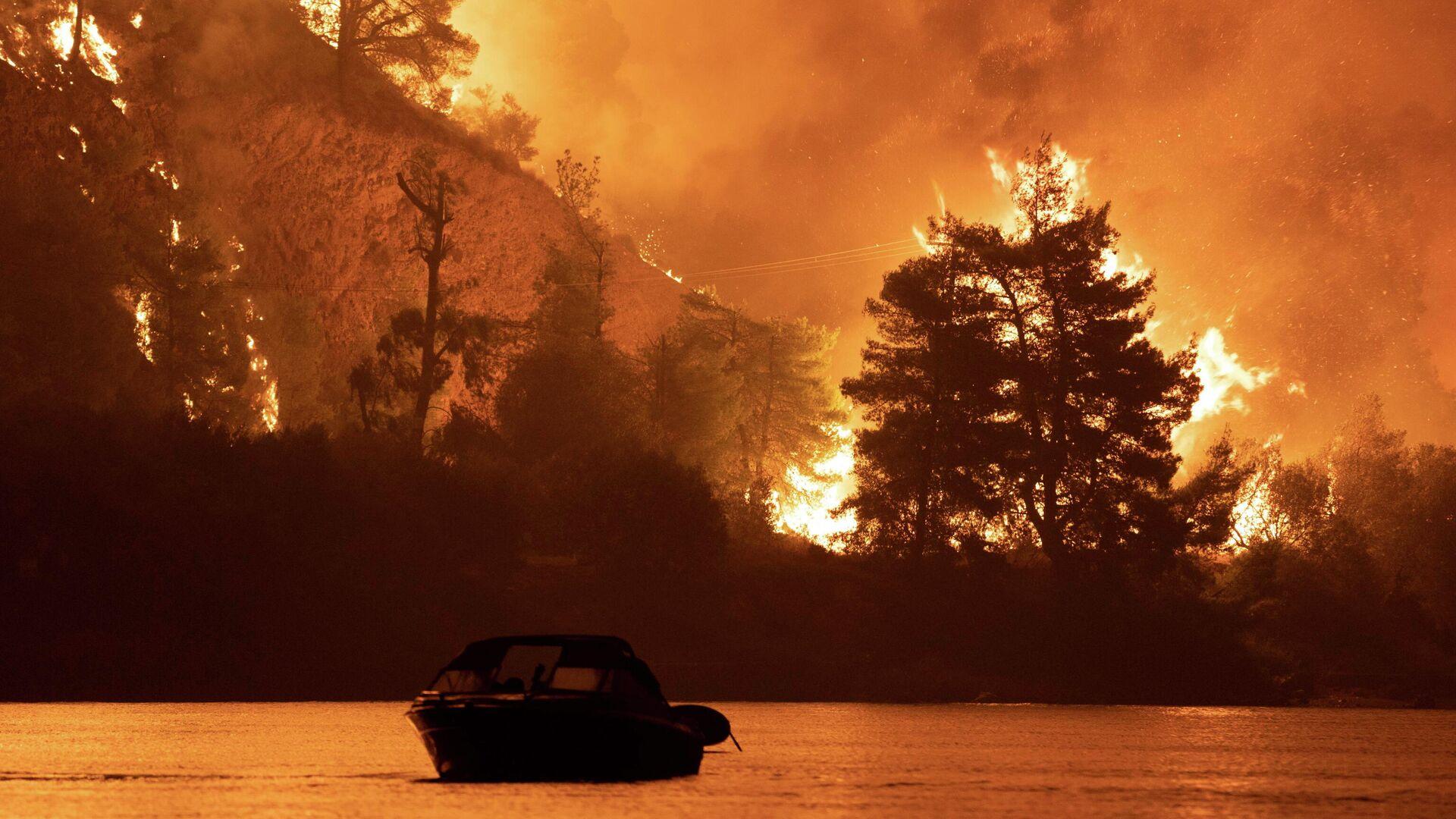 Los incendios forestales en Grecia - Sputnik Mundo, 1920, 07.08.2021