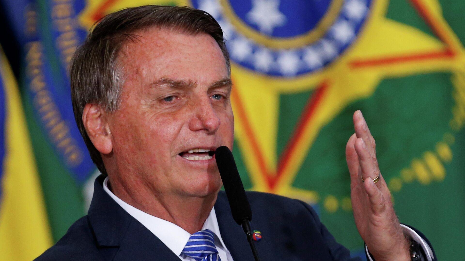 El presidente brasileño, Jair Bolsonaro - Sputnik Mundo, 1920, 09.08.2021