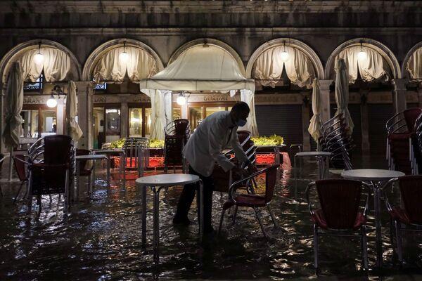 En algunos casos, la marea alta puede inundar hasta el 96% de la ciudad. - Sputnik Mundo