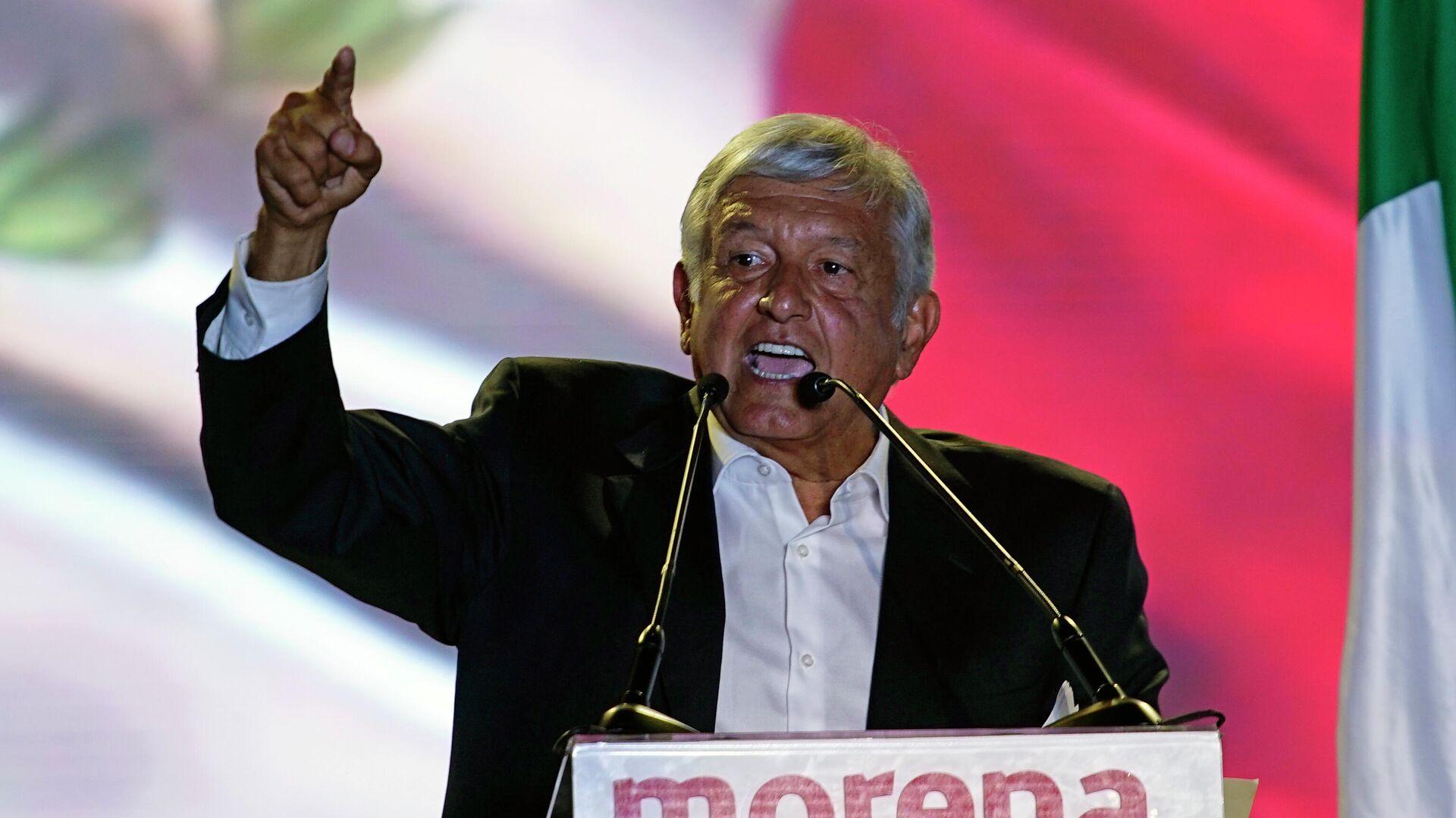 El presidente de México, Andrés Manuel López Obrador - Sputnik Mundo, 1920, 09.08.2021
