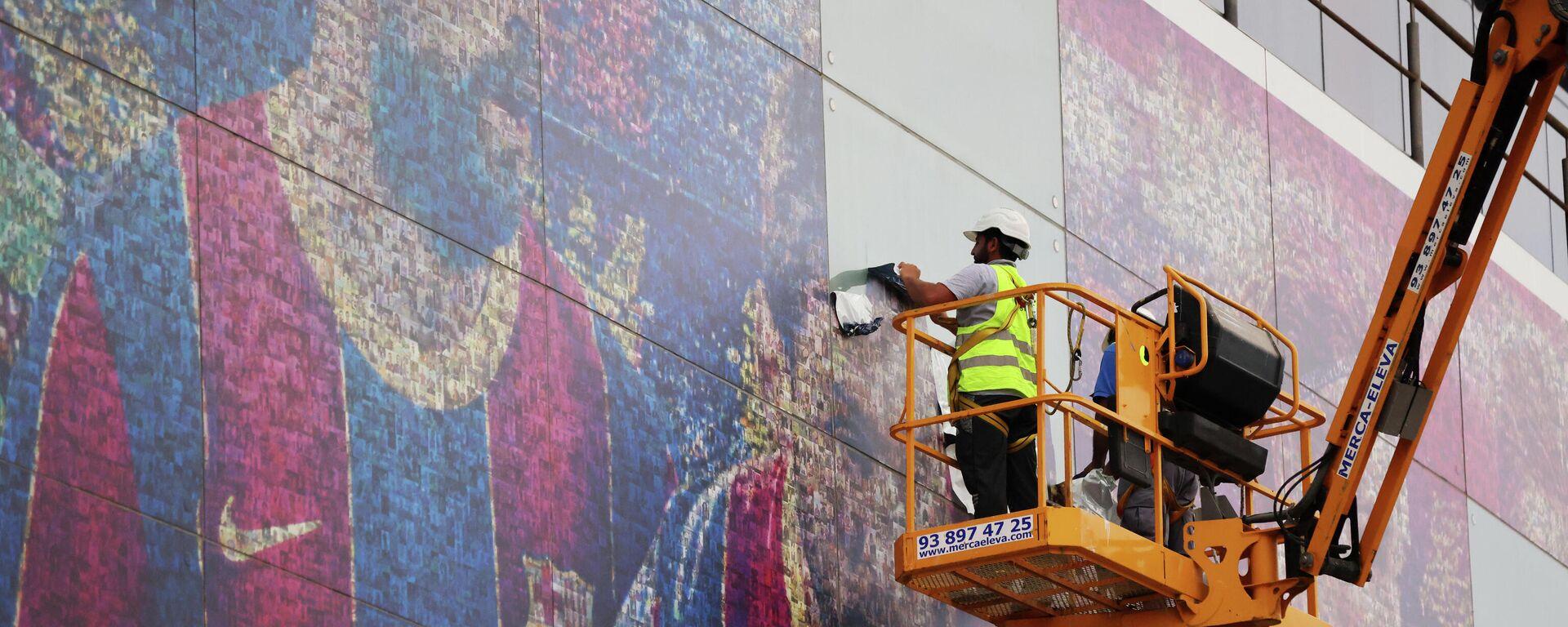 El FC Barcelona retira los carteles de Messi del Camp Nou - Sputnik Mundo, 1920, 10.08.2021