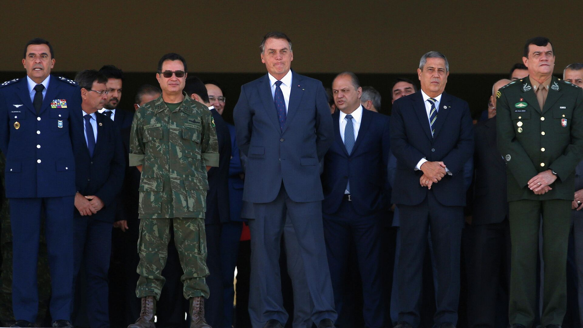 El presidente de Brasil, Jair Bolsonaro, asiste a un desfile militar, Brasilia, Brasil, el 10 de agosto de 2021   - Sputnik Mundo, 1920, 10.08.2021