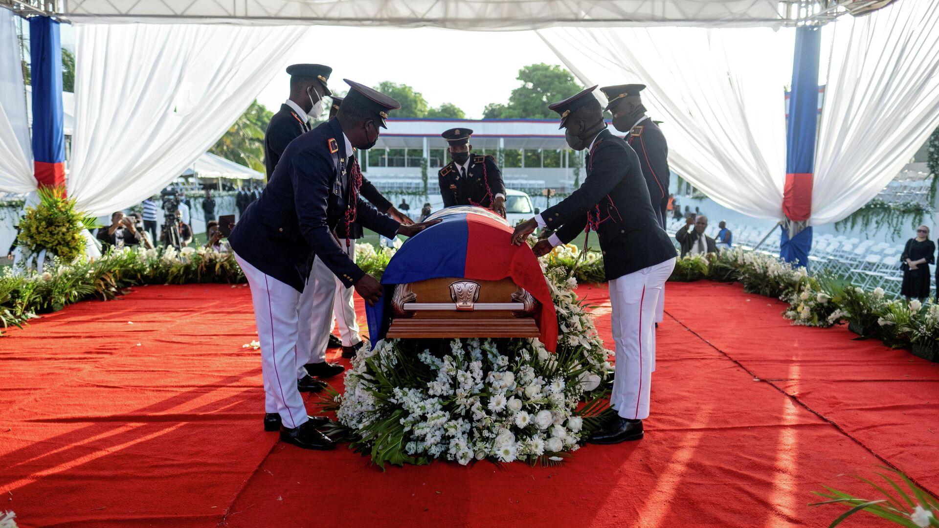 El funeral del asesinado presidente haitiano Jovenel Moise - Sputnik Mundo, 1920, 10.08.2021