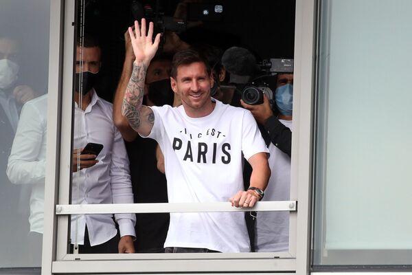 Lionel Messi llega a París para unirse al Paris St Germain (PSG) - Sputnik Mundo