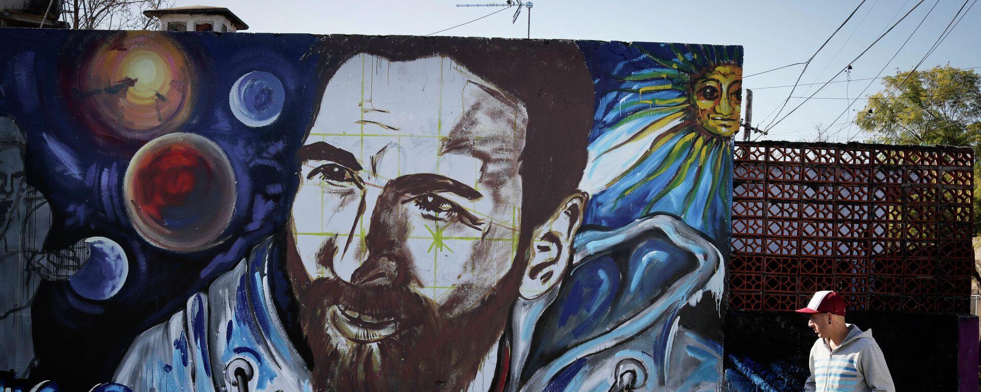 Un mural con el rostro de Lionel Messi en la ciudad argentina de Rosario - Sputnik Mundo, 1920, 10.09.2021