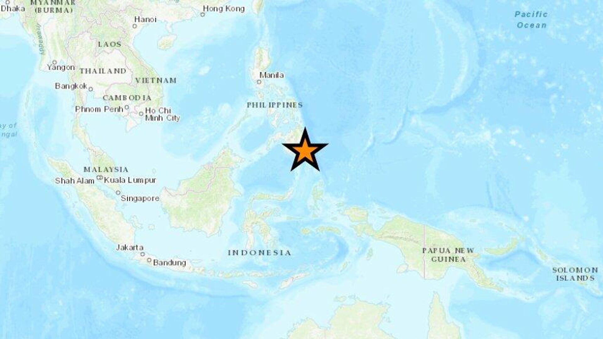 Un fuerte terremoto golpea la costa del Pacífico de Filipinas - Sputnik Mundo, 1920, 11.08.2021