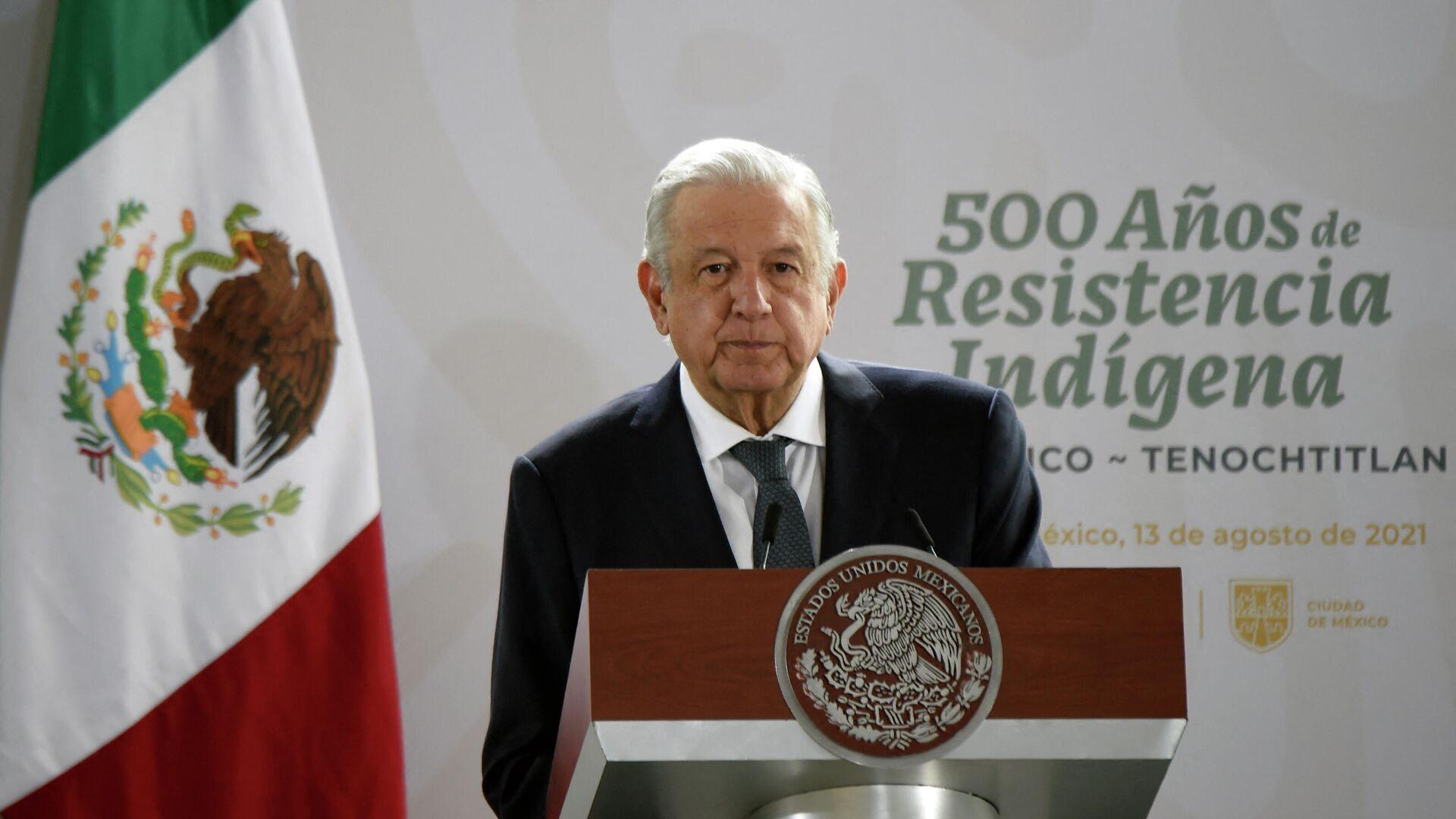 El presidente de México, Andrés Manuel López Obrador - Sputnik Mundo, 1920, 13.08.2021
