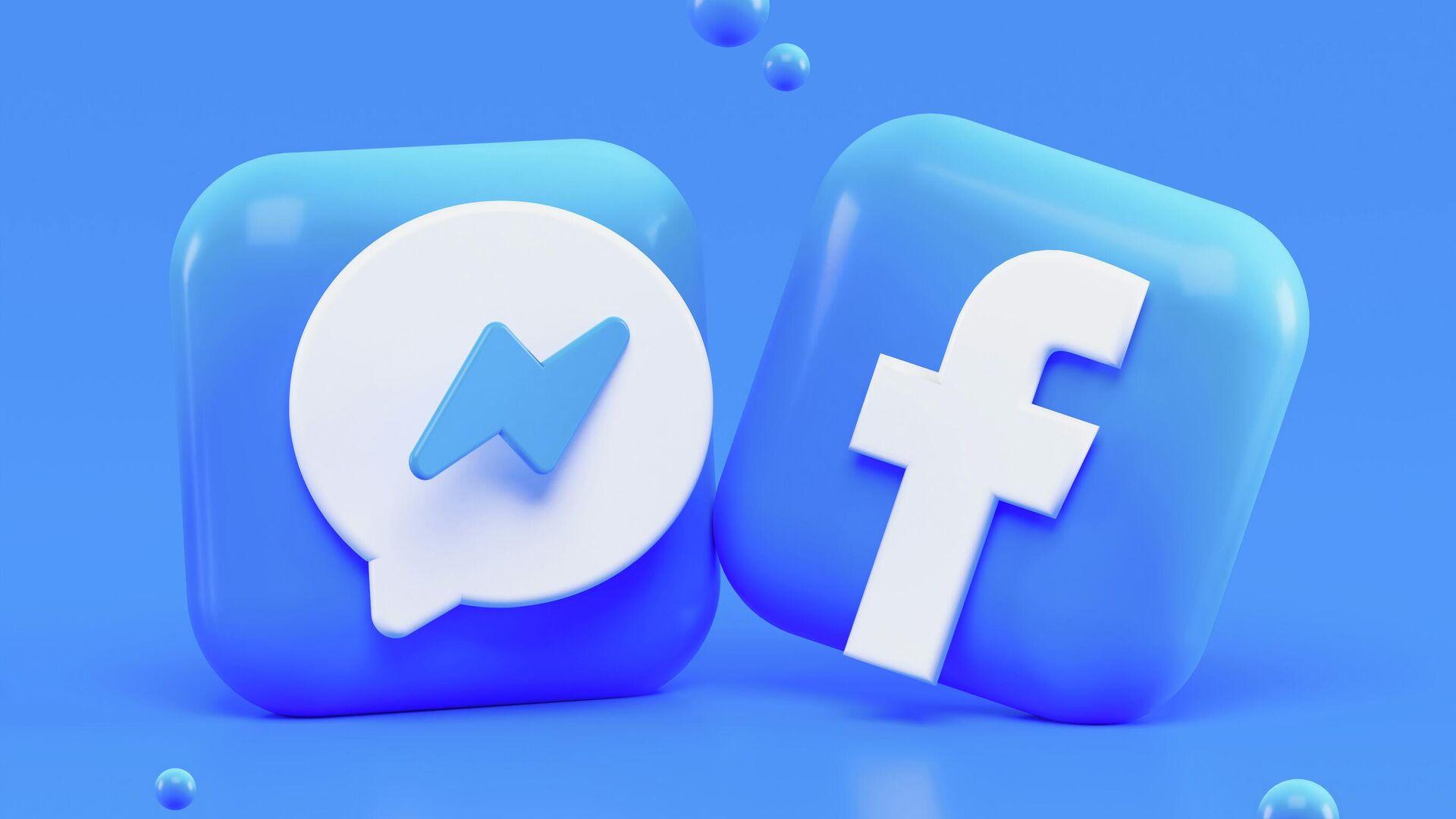 Los logos de Facebook y Messenger - Sputnik Mundo, 1920, 14.08.2021