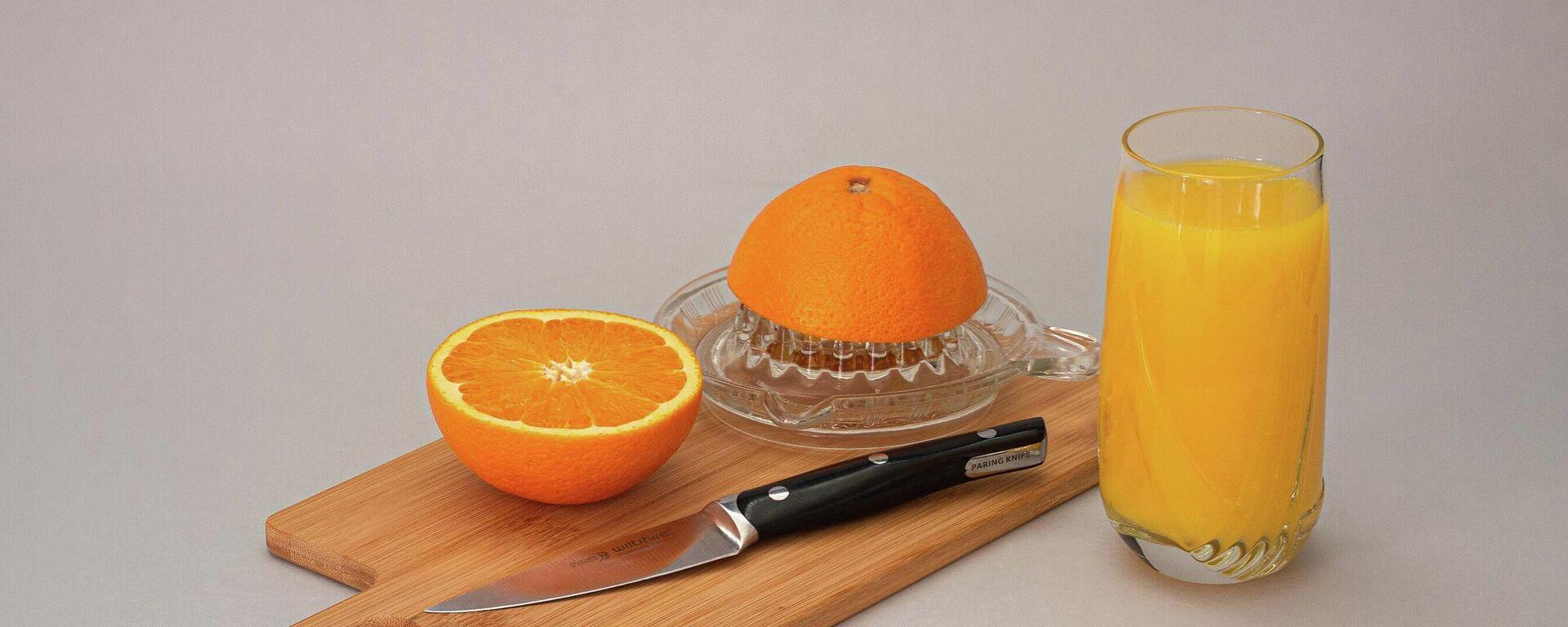 Zumo de naranja, ilustración - Sputnik Mundo, 1920, 18.08.2021