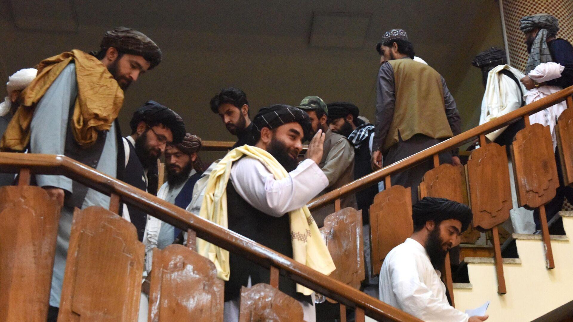 Delegación de los talibanes* (organización terrorista proscrita en Rusia) - Sputnik Mundo, 1920, 18.08.2021