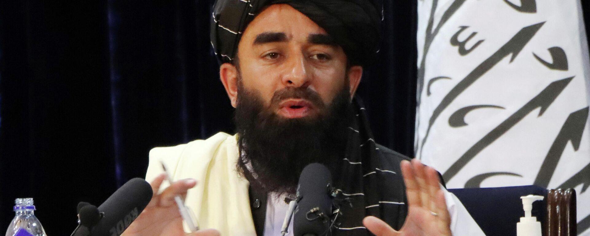 Zabihullah Mujahid, portavoz del movimiento radical talibán (proscrito en Rusia) - Sputnik Mundo, 1920, 18.08.2021