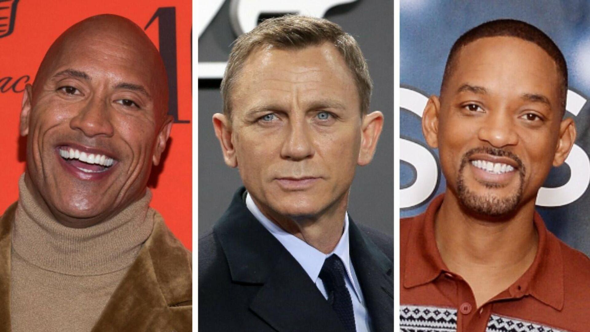 Dwayne Johnson, Daniel Craig y Will Smith - Sputnik Mundo, 1920, 20.08.2021