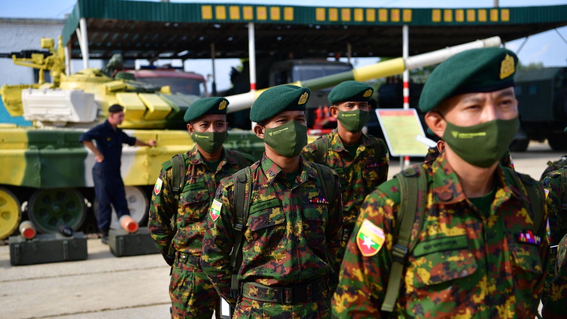 Militares birmanos durante los Juegos Militares Army 2021 - Sputnik Mundo, 1920, 23.08.2021