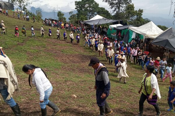 Danza en el ritual saakhelu en Munchique los Tigres - Sputnik Mundo