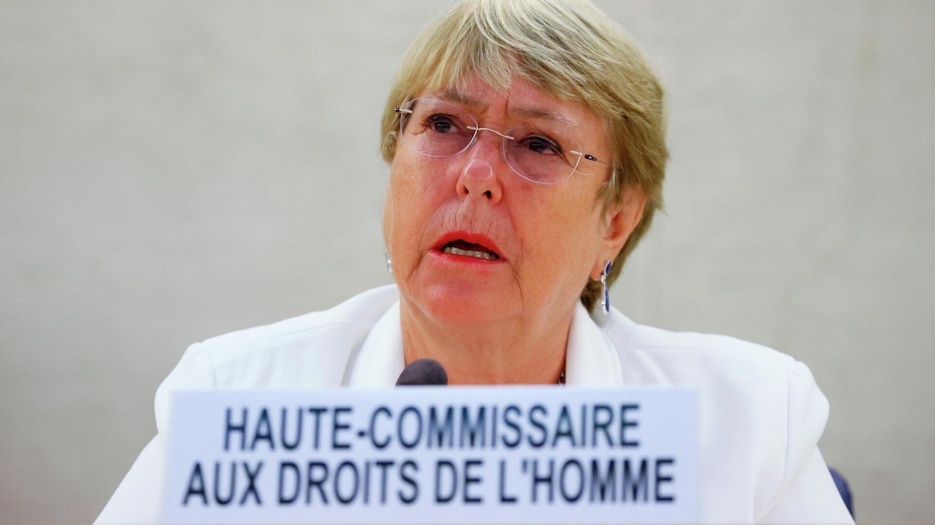 La Alta Comisionada de la ONU para los Derechos Humanos, Michelle Bachelet - Sputnik Mundo, 1920, 24.08.2021