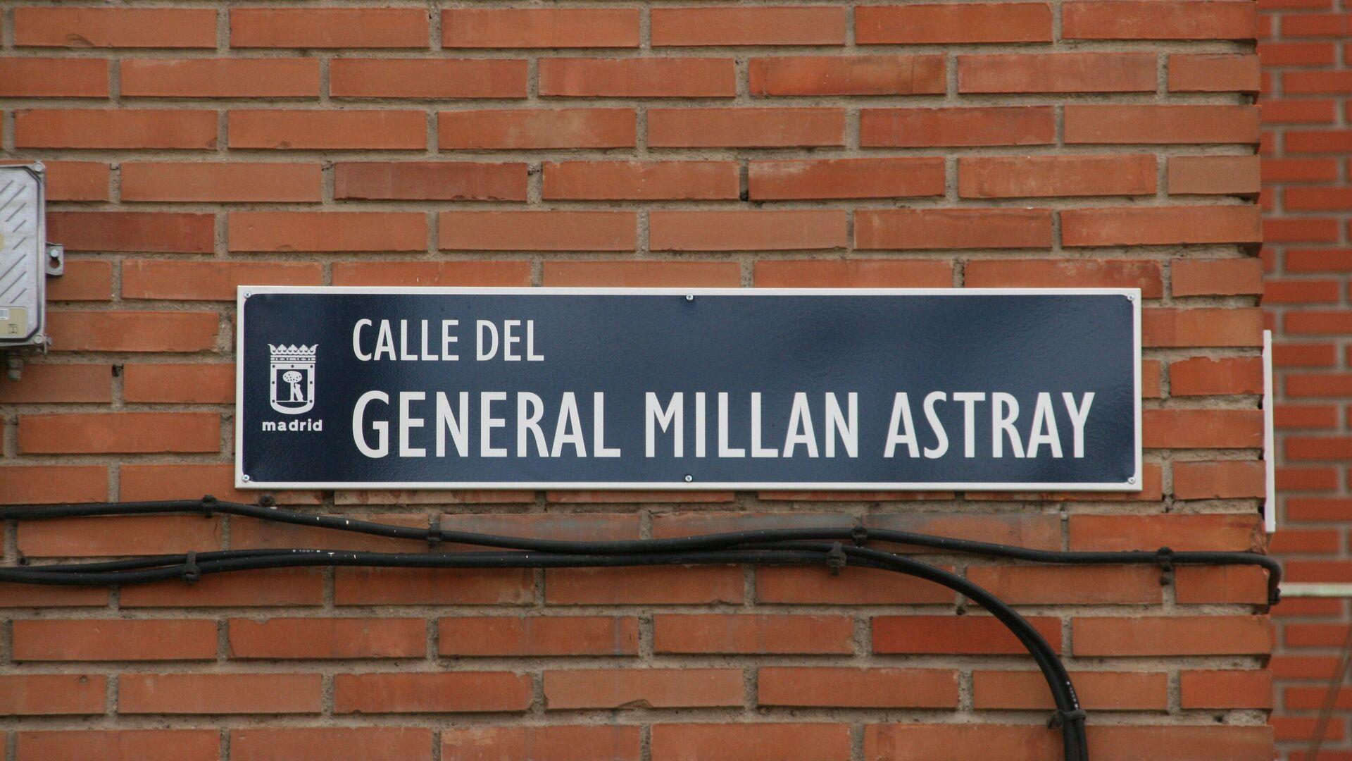 Placa de la calle General Millán Astray en el barrio de Las Águilas, distrito de Latina, en Madrid - Sputnik Mundo, 1920, 24.08.2021