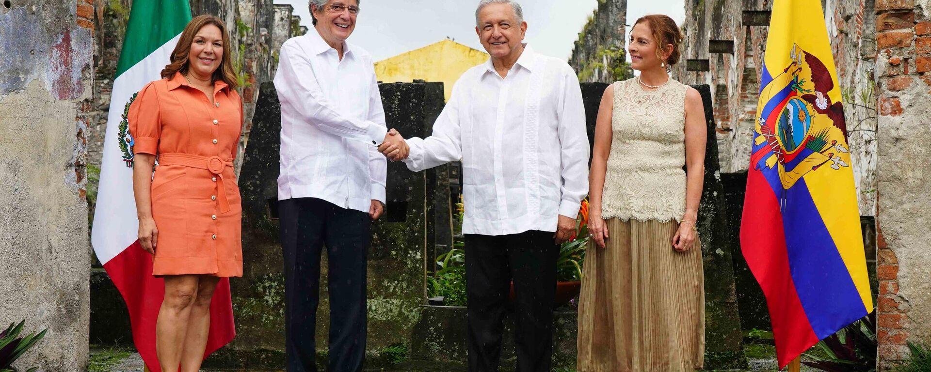 Presidente de Ecuador, Guillermo Lasso Mendoza, y presidente de Mexico, Andrés Manuel López Obrador - Sputnik Mundo, 1920, 24.08.2021