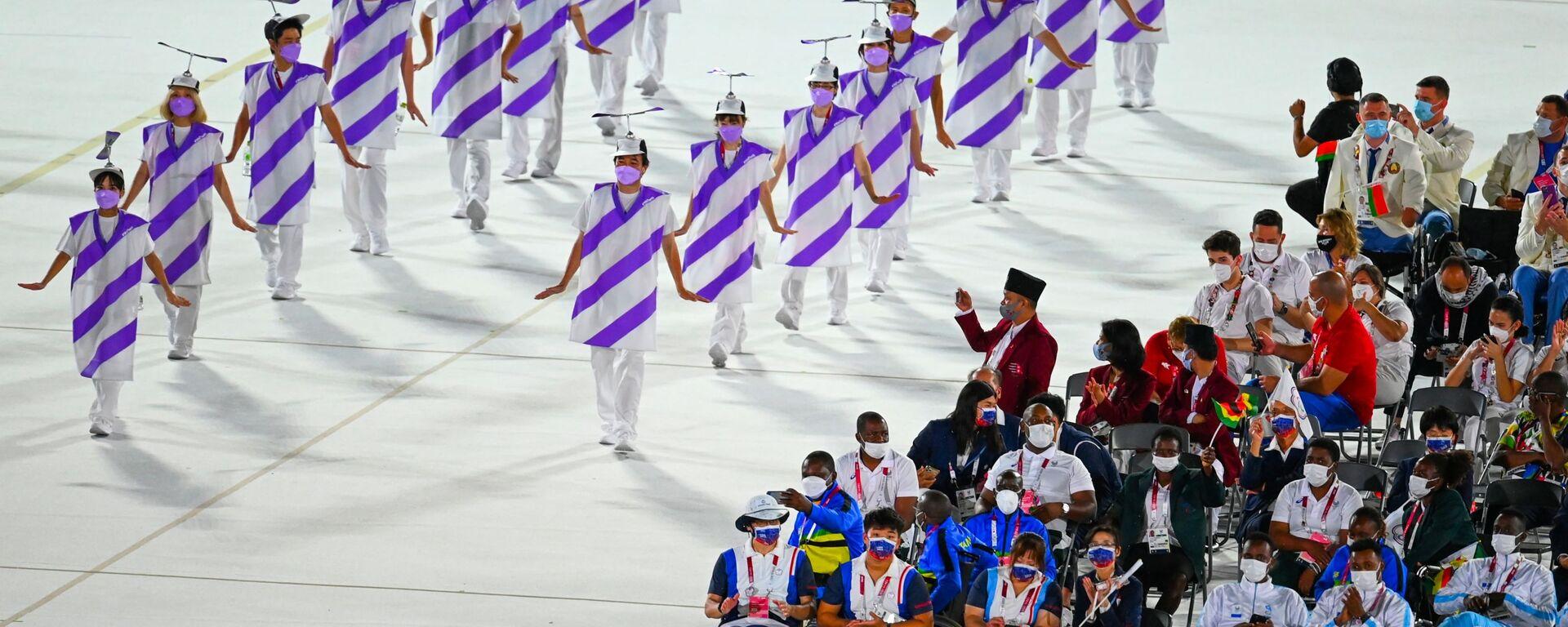 Артисты на церемонии открытия XVI летних Паралимпийских игр - Sputnik Mundo, 1920, 26.08.2021