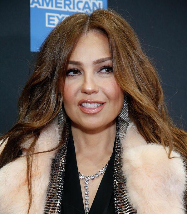 Thalía en el estreno del musical Tina - The Tina Turner Musical en Nueva York, en 2019. - Sputnik Mundo