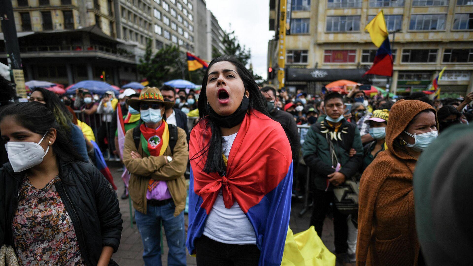 Protestas en Bogotá, Colombia (archivo) - Sputnik Mundo, 1920, 26.08.2021