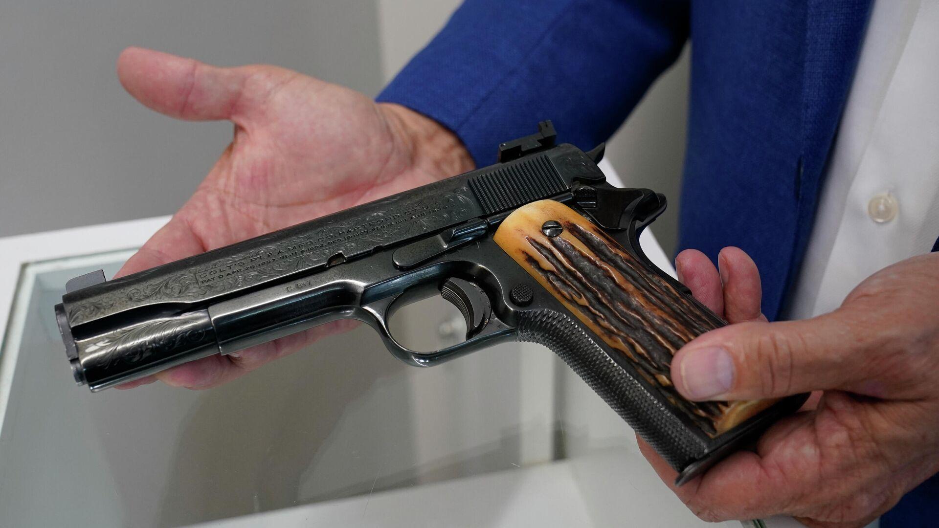 Pistola Colt calibre .45 de Al Capone - Sputnik Mundo, 1920, 27.08.2021