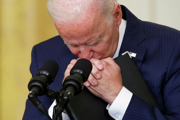 El presidente de EEUU, Joe Biden, ofrece un discurso luego del mortífero ataque terrorista en el aeropuerto de Kabul. - Sputnik Mundo