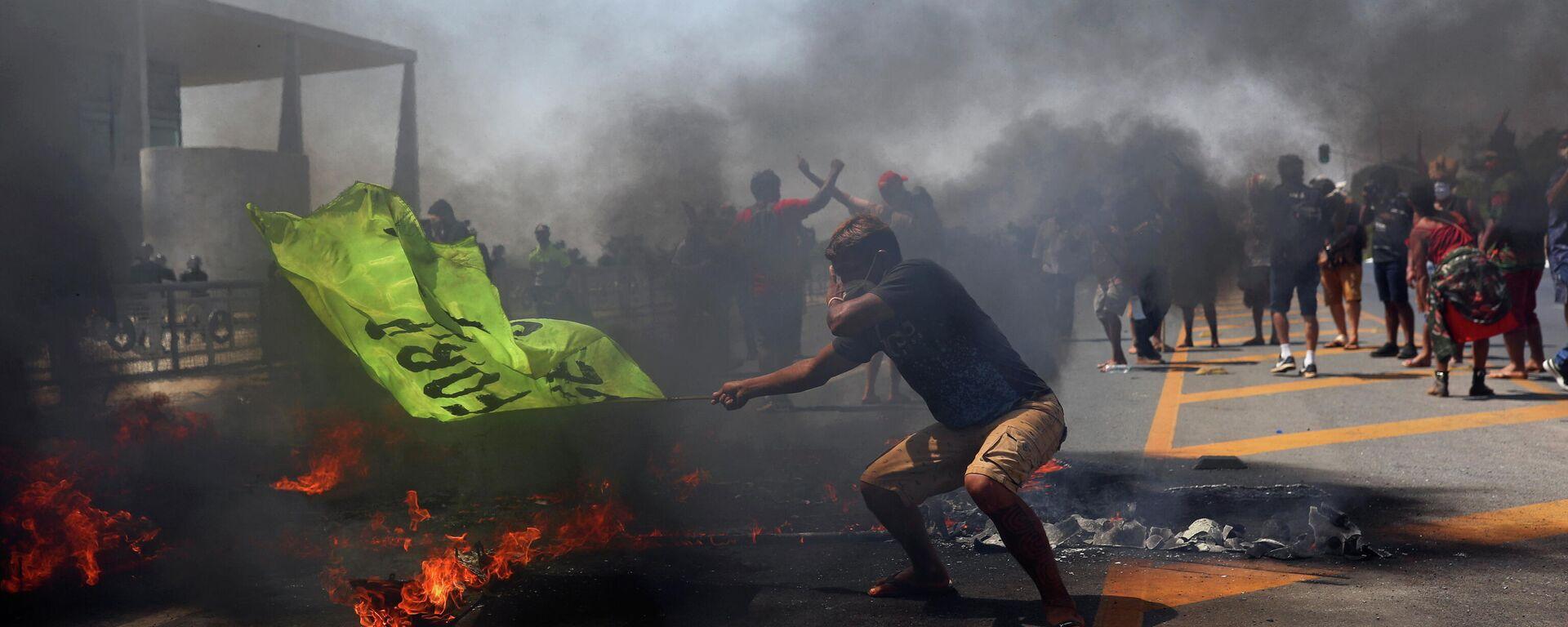 Protestas en Brasilia, Brasil - Sputnik Mundo, 1920, 27.08.2021