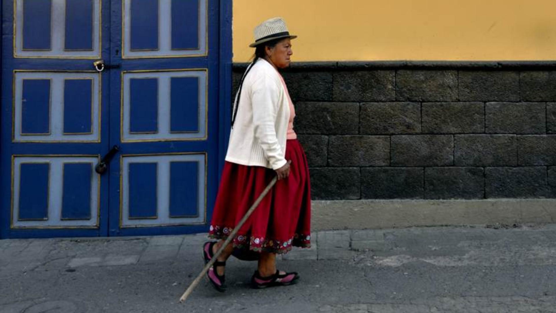 Una mujer en una calle de Cuenca, foto de archivo - Sputnik Mundo, 1920, 28.08.2021