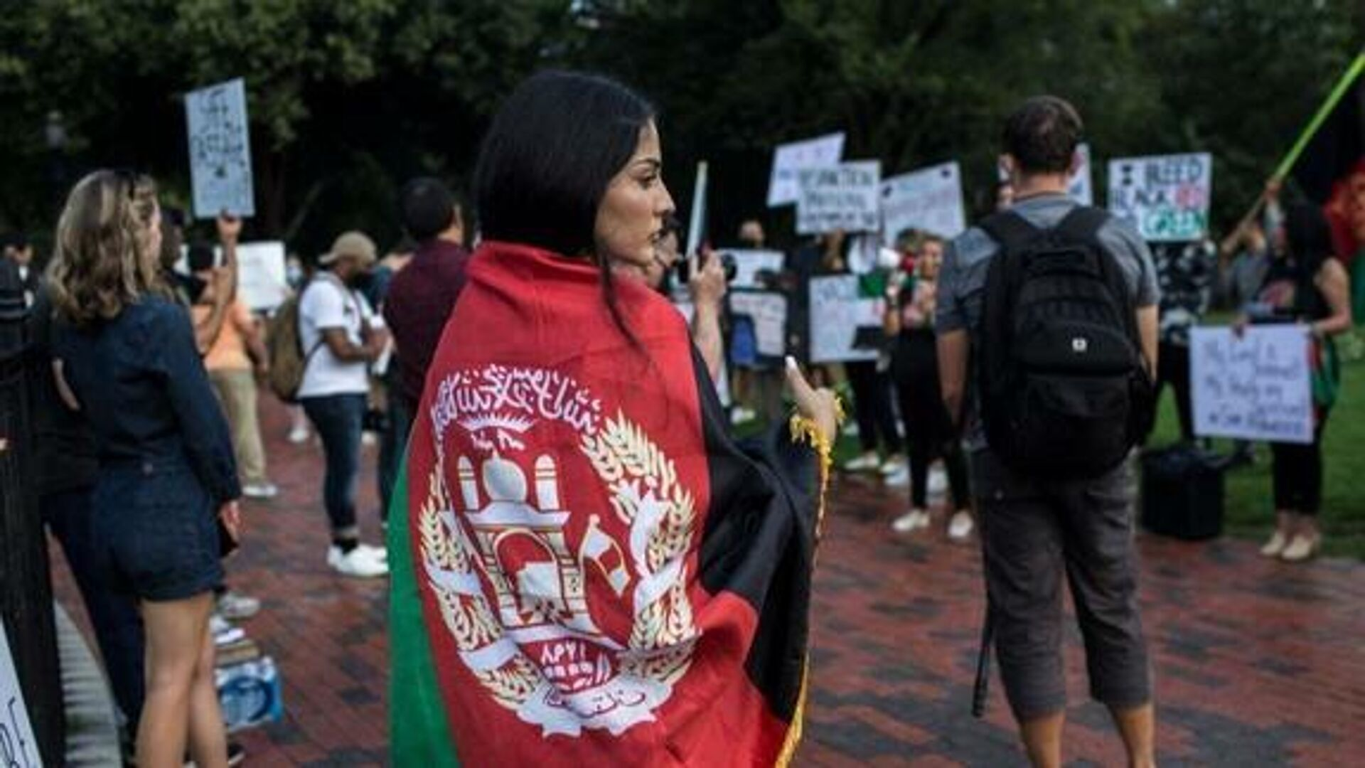Protesta en Washington por la crisis humanitaria en Afganistán - Sputnik Mundo, 1920, 28.08.2021