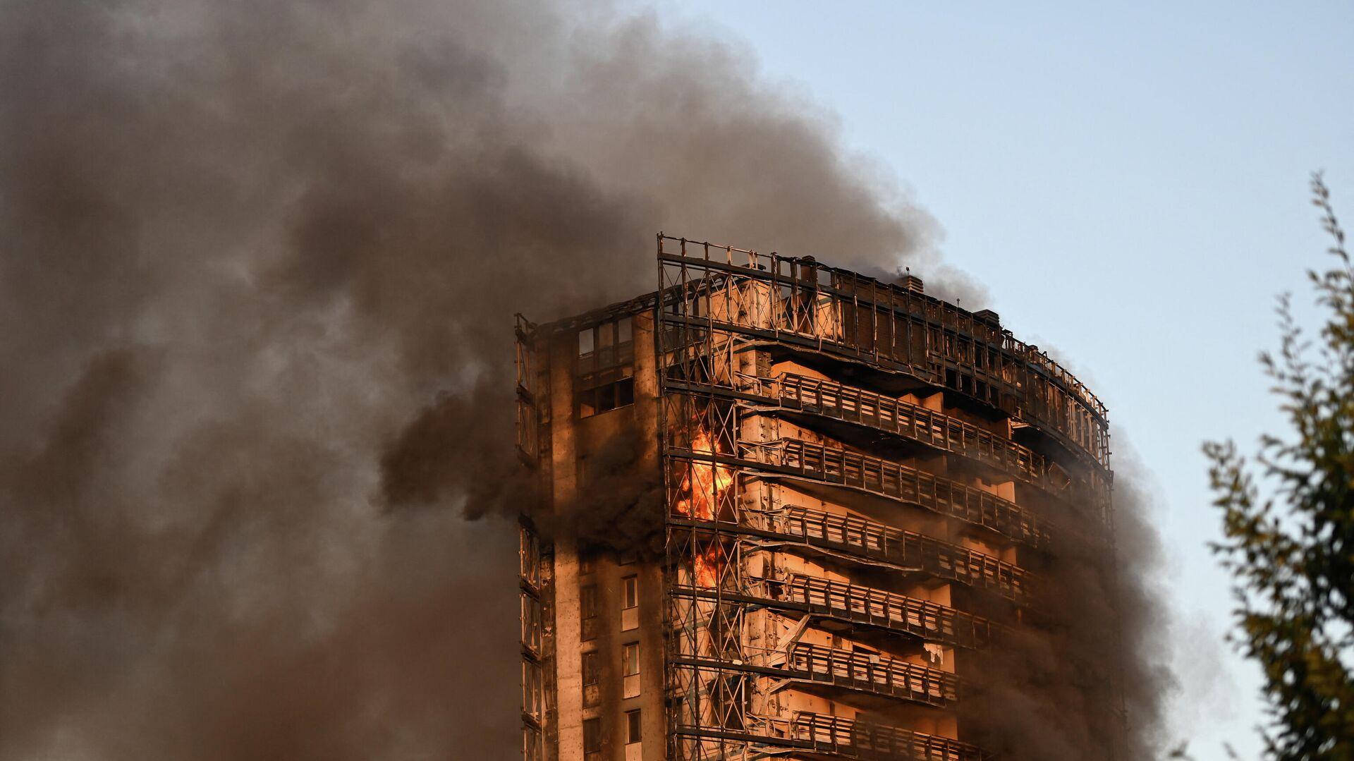 Incendio en un edificio residencial en Milán (Italia), el 29 de agosto del 2021 - Sputnik Mundo, 1920, 29.08.2021