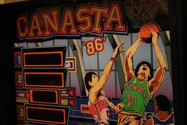 Detalle de una máquina en Arcade Vintage, el museo del videojuego en la localidad alicantina de Ibi, en España - Sputnik Mundo