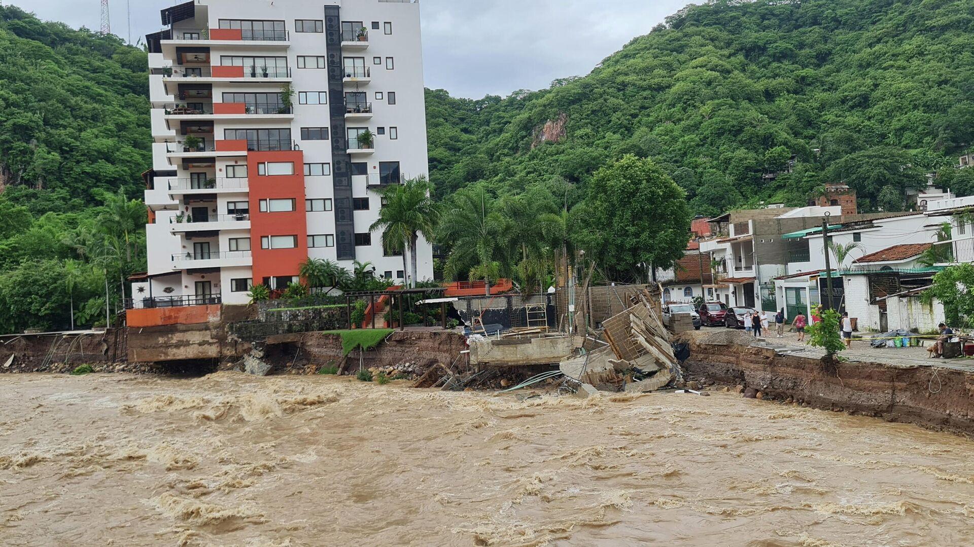 Tormenta tropical Nora en las costas de México - Sputnik Mundo, 1920, 30.08.2021