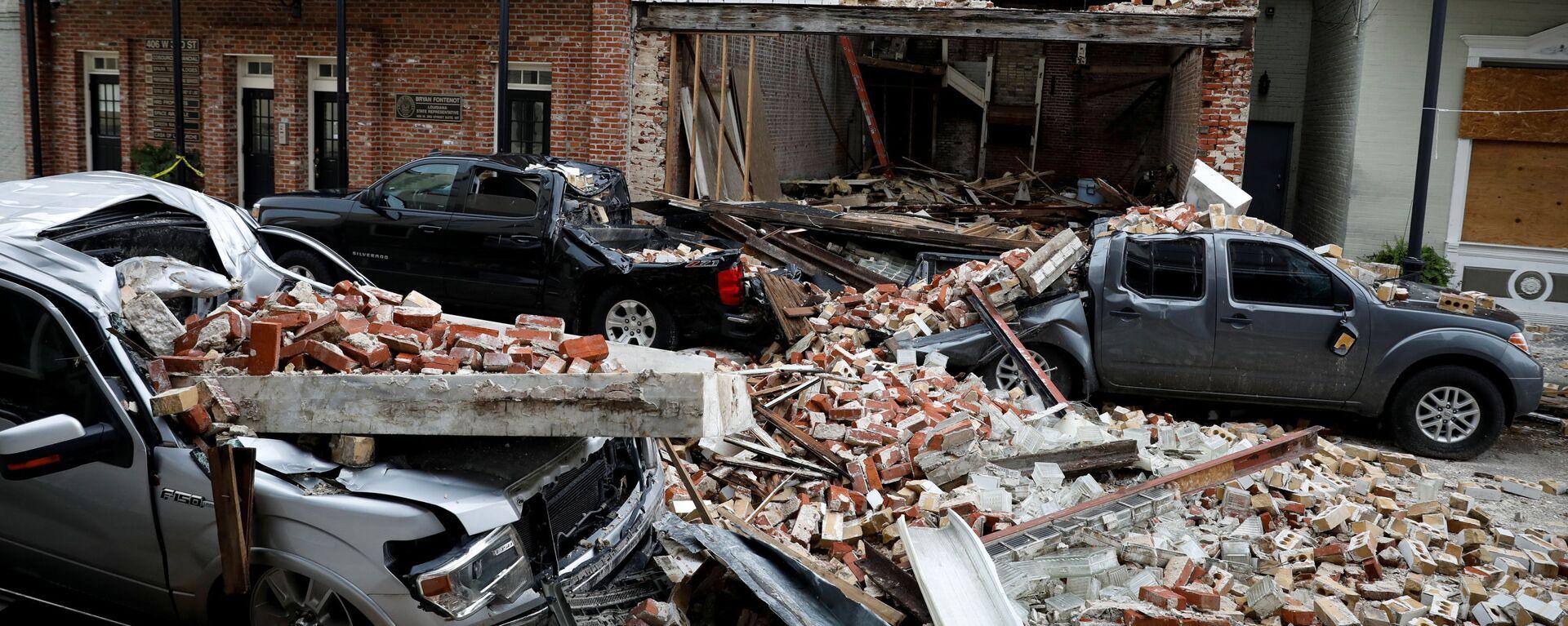 La destrucción causada por el huracán Ida en Thibodaux, Luisiana (EEUU) - Sputnik Mundo, 1920, 03.09.2021