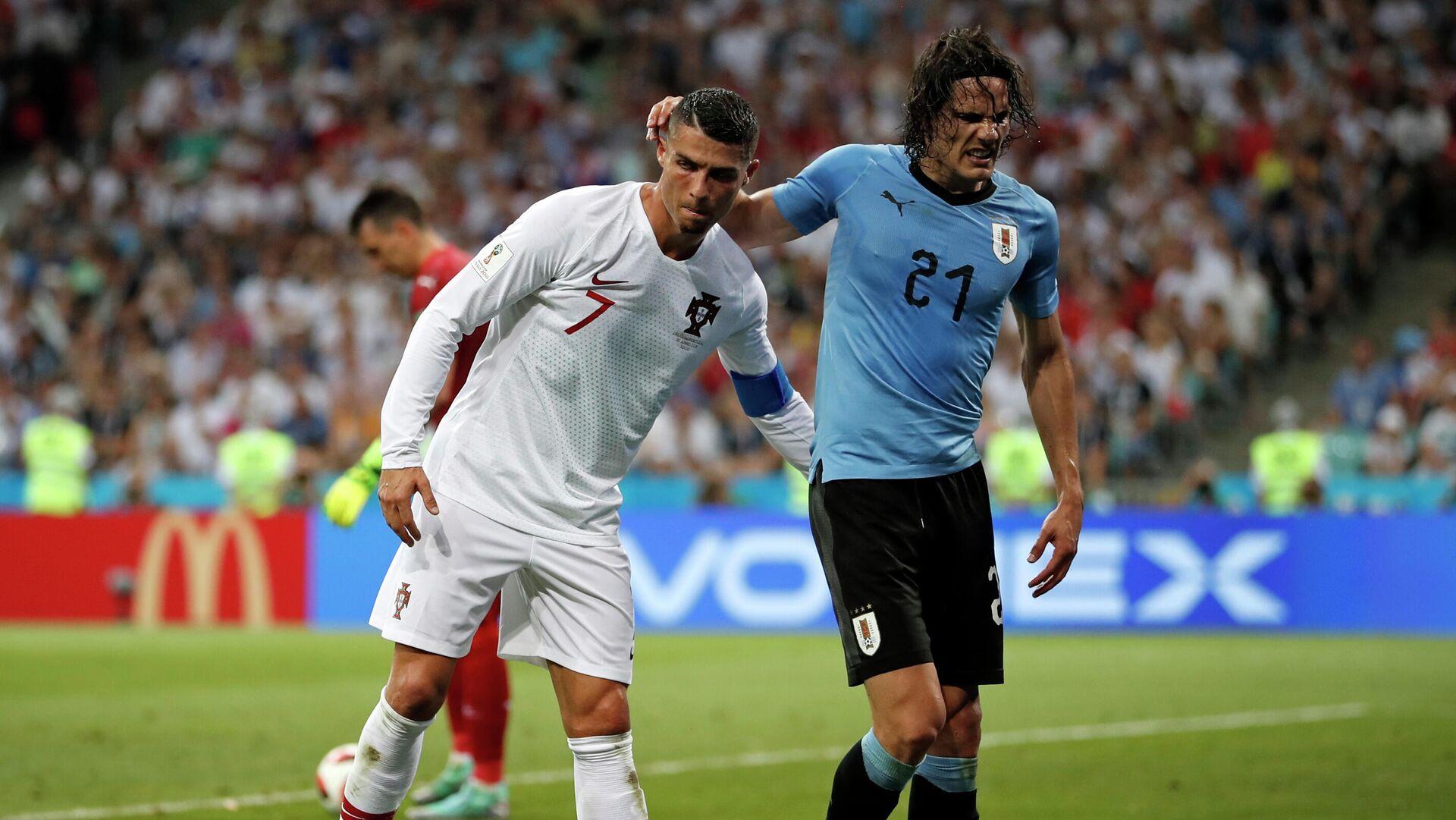 Cristiano Ronaldo y Edinson Cavani en la Copa del Mundo Rusia 2018 - Sputnik Mundo, 1920, 03.09.2021