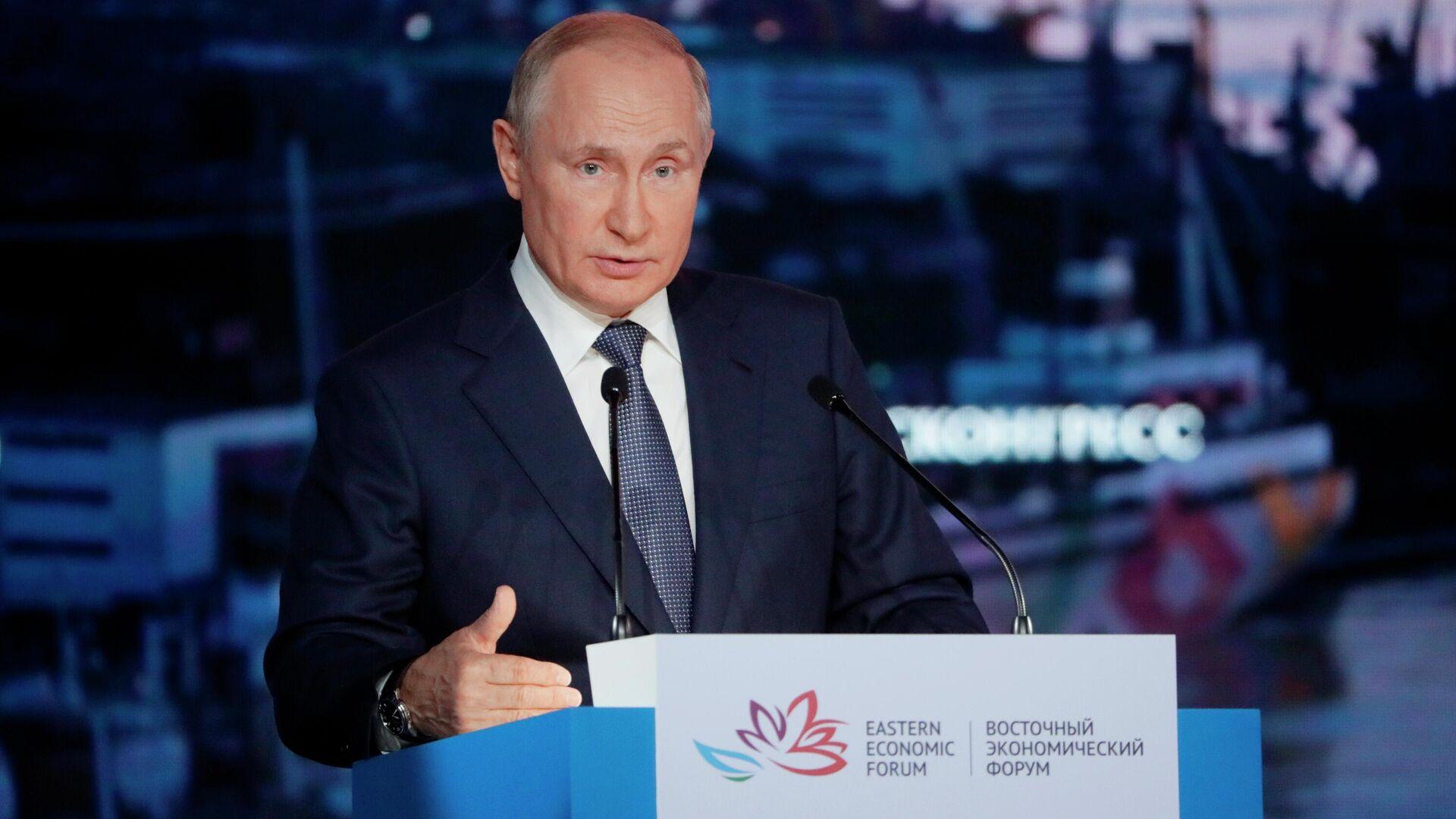El presidente de Rusia, Vladímir Putin, en el Foro Económico Oriental - Sputnik Mundo, 1920, 03.09.2021