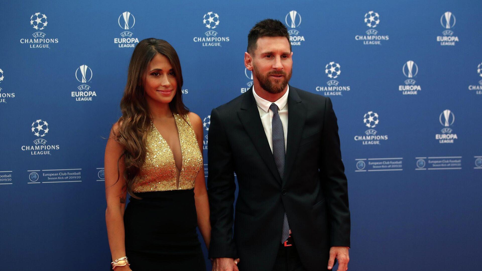 El futbolista Lionel Messi junto a su esposa Antonella Roccuzzo - Sputnik Mundo, 1920, 03.09.2021