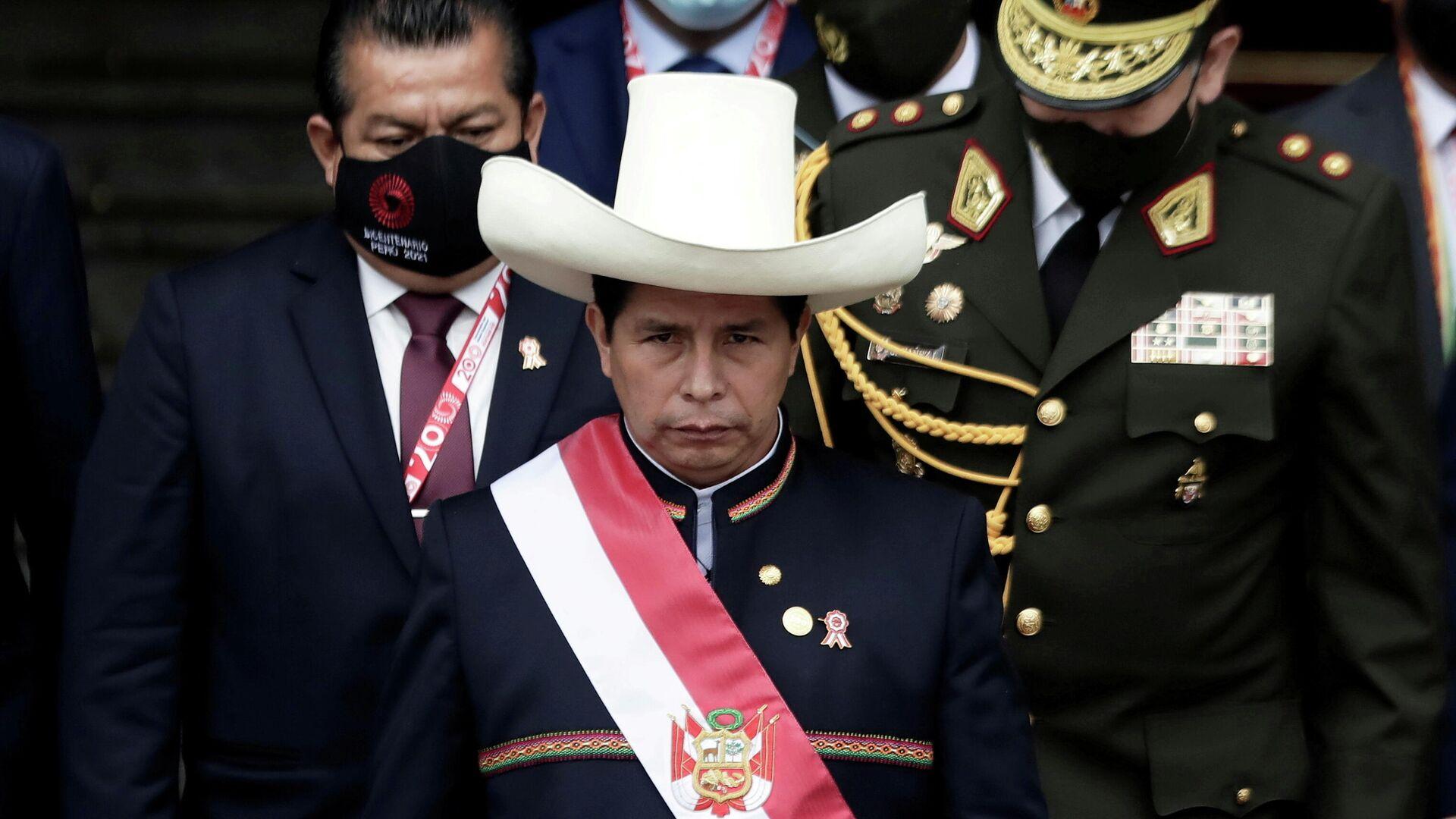 El presidente de Perú, Pedro Castillo - Sputnik Mundo, 1920, 10.09.2021