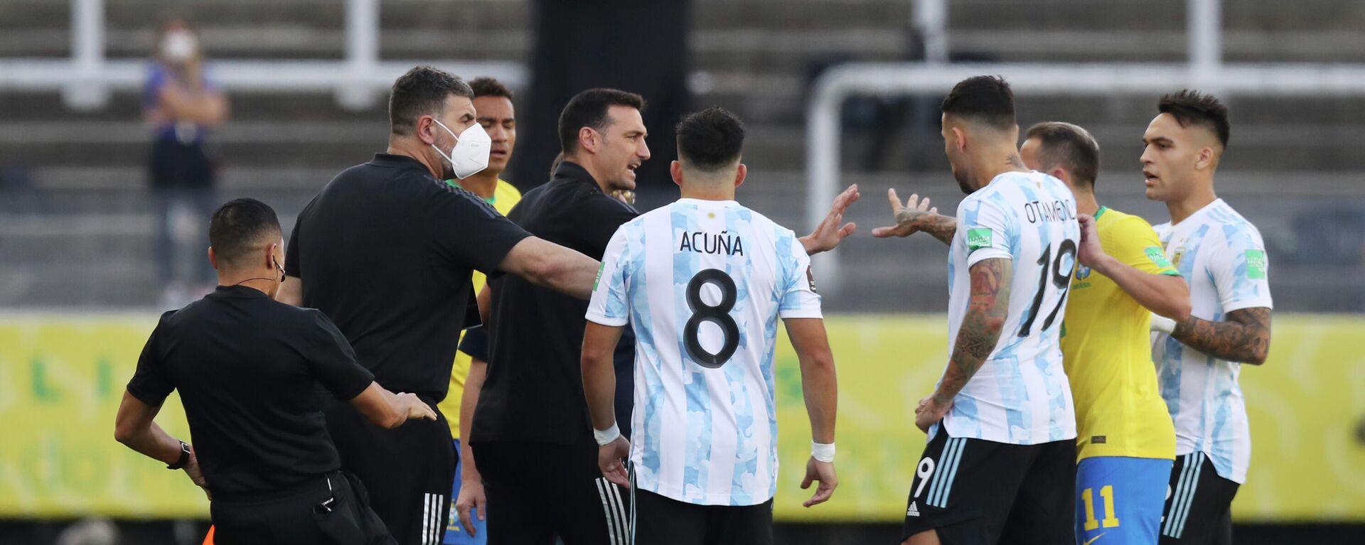 El partido Brasil-Argentina - Sputnik Mundo, 1920, 05.09.2021