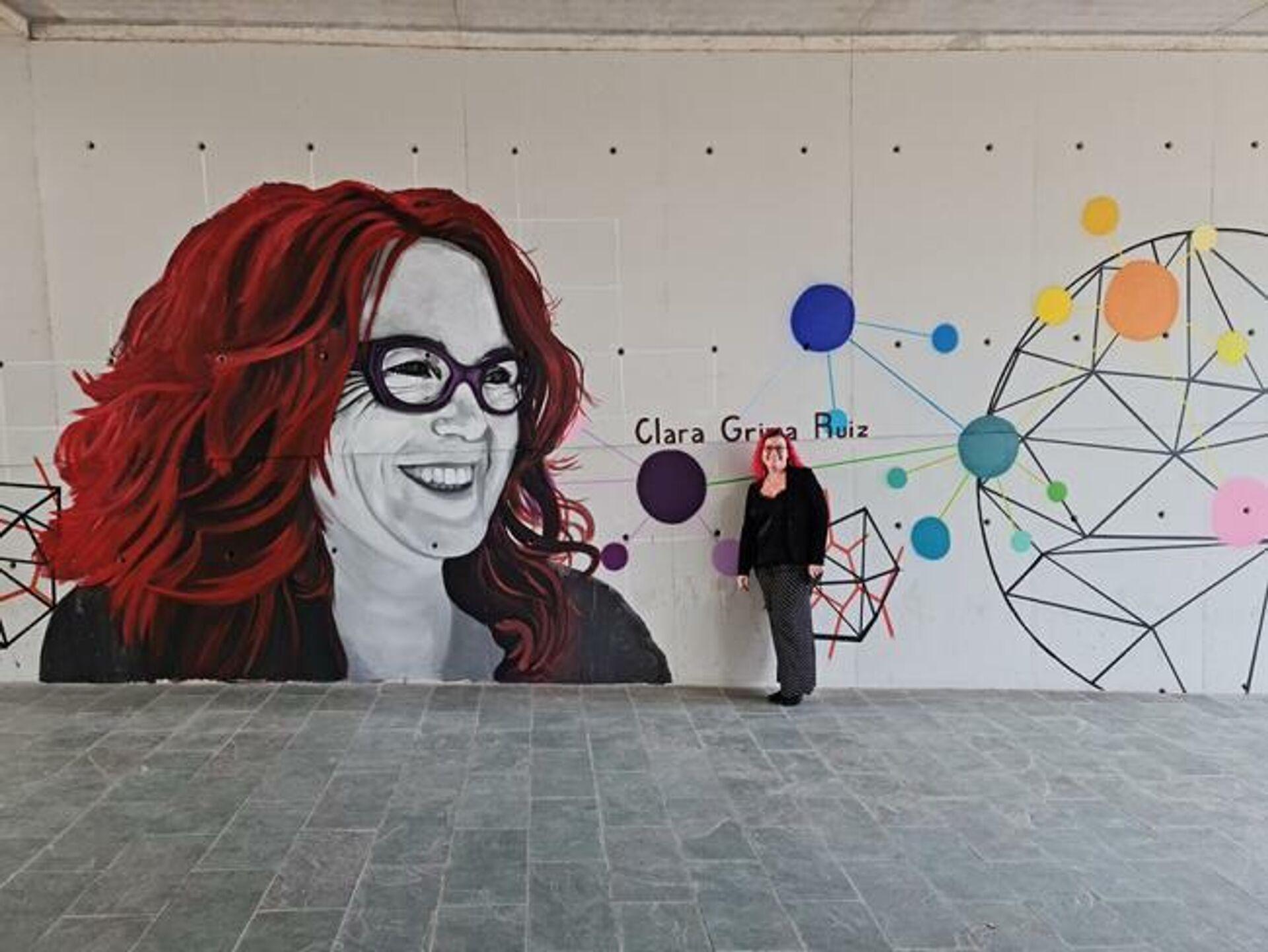 Clara Grima ante un mural en su honor en Sevilla - Sputnik Mundo, 1920, 06.09.2021