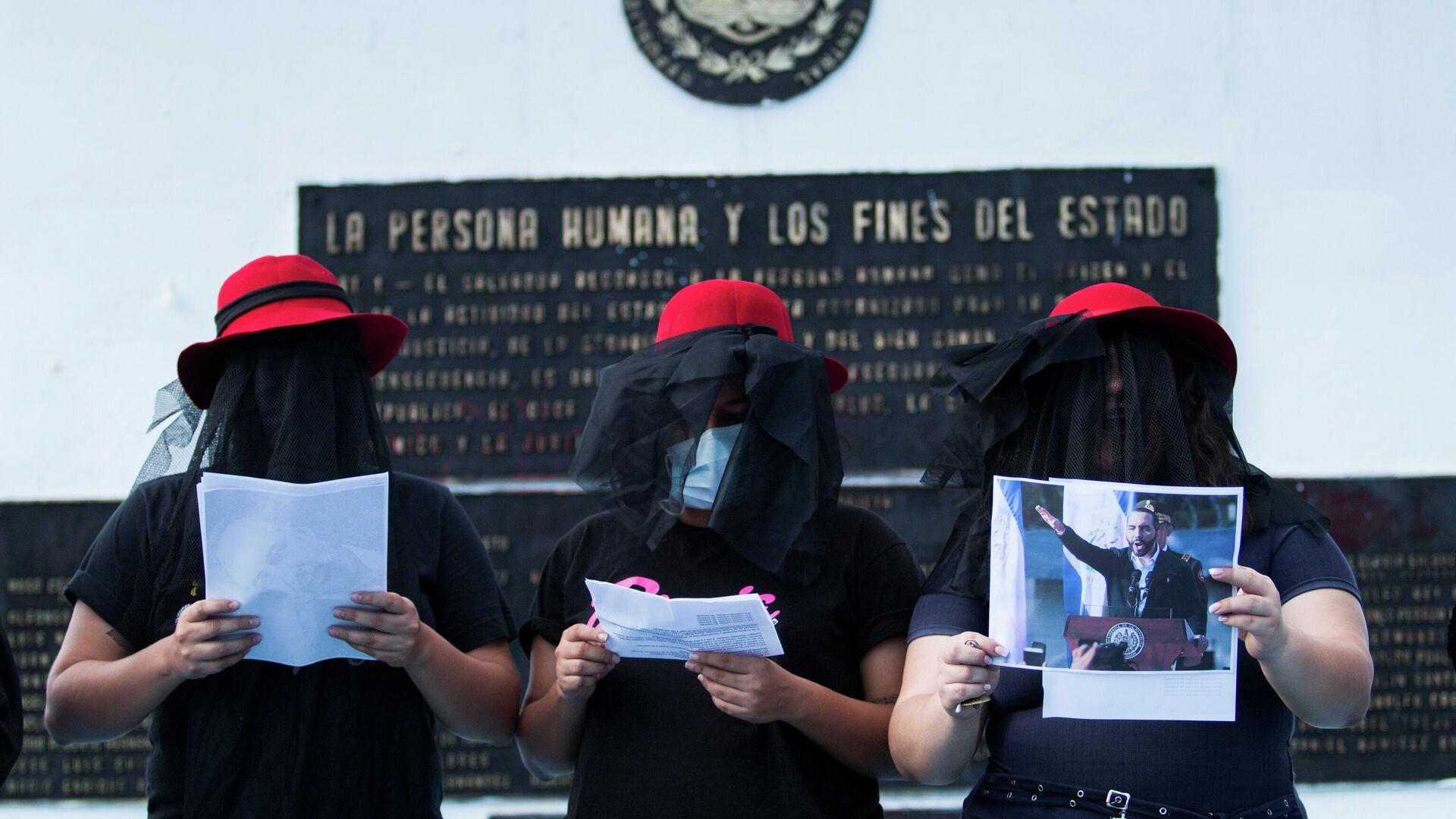 Protestas en El Salvador contra el presidente, Nayib Bukele - Sputnik Mundo, 1920, 06.09.2021