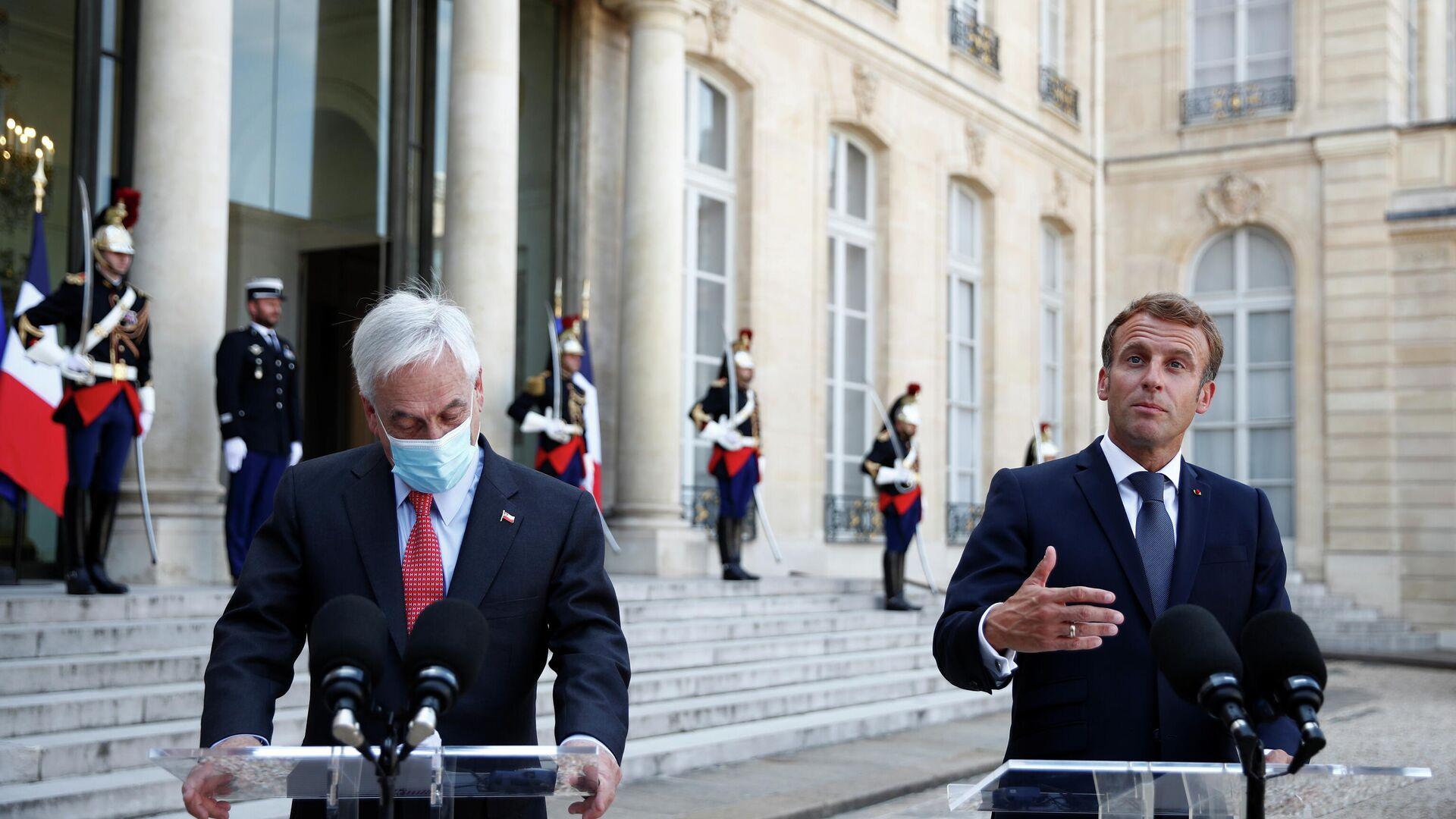 Sebastián Piñera, presidente de Chile, y Emmanuel Macron, presidente de Francia - Sputnik Mundo, 1920, 06.09.2021