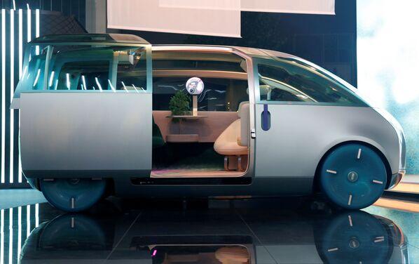 En la ceremonia de apertura de la IAA 2021 también se lucieron coches espaciosos y grandes como el concept car MINI Vision Urbanaut. - Sputnik Mundo