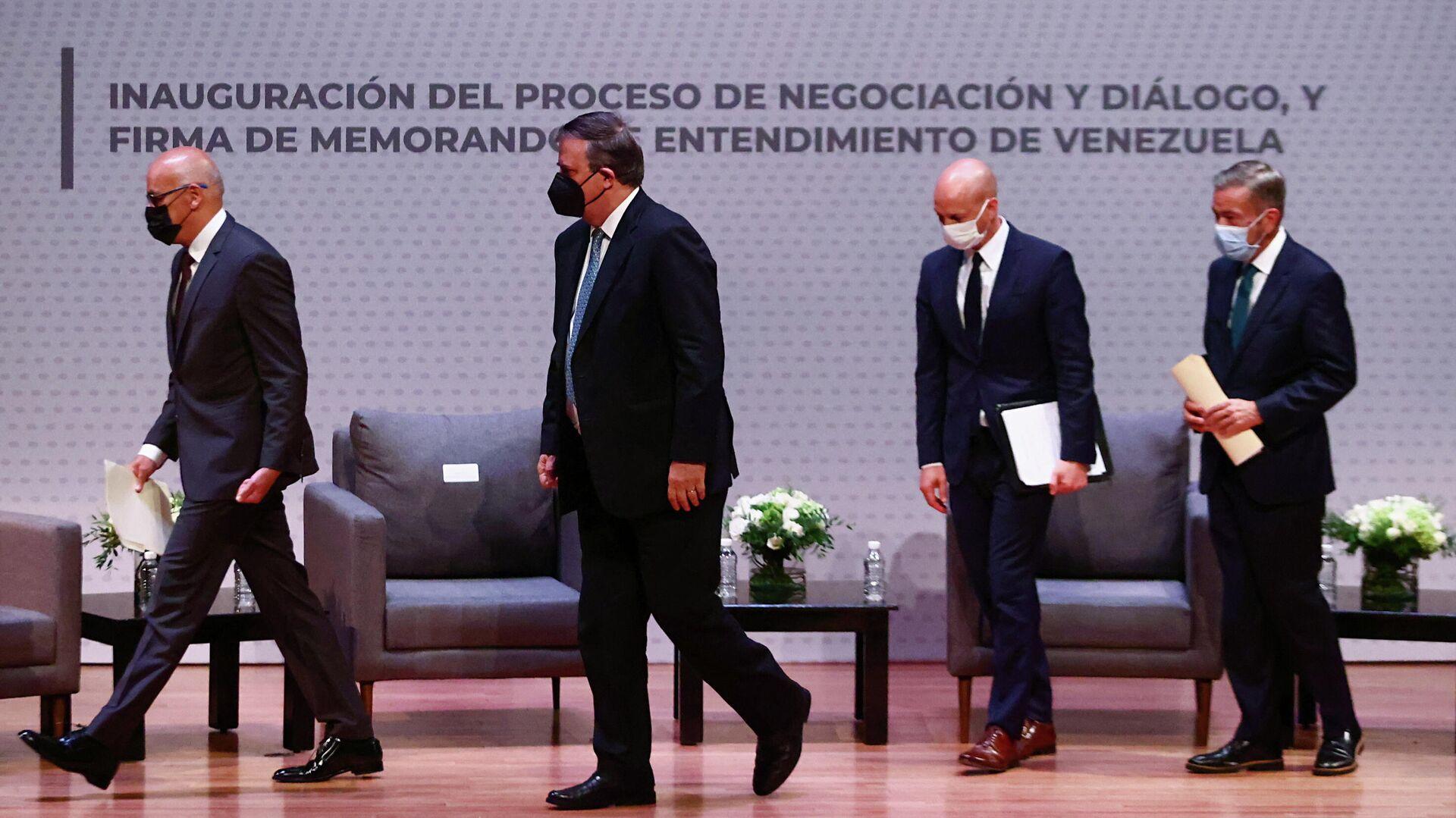 Las conversaciones entre el Gobierno y la oposición de Venezuela en México - Sputnik Mundo, 1920, 07.09.2021