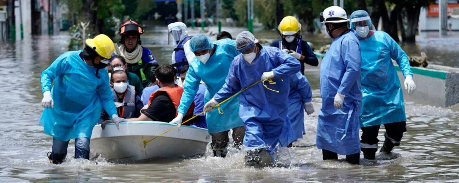 Hospital inundado en Tula, centro de México - Sputnik Mundo, 1920, 07.09.2021