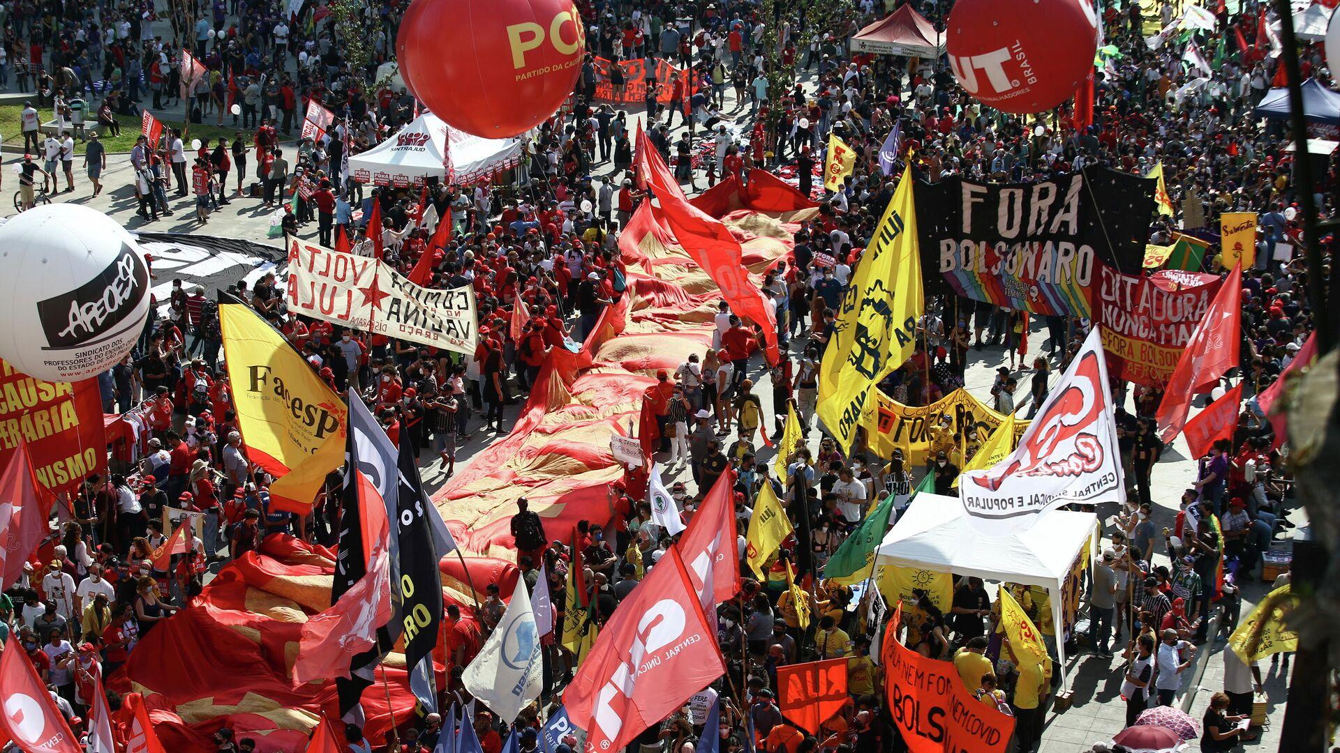 Protestas en Brasil contra Bolsonaro - Sputnik Mundo, 1920, 08.09.2021