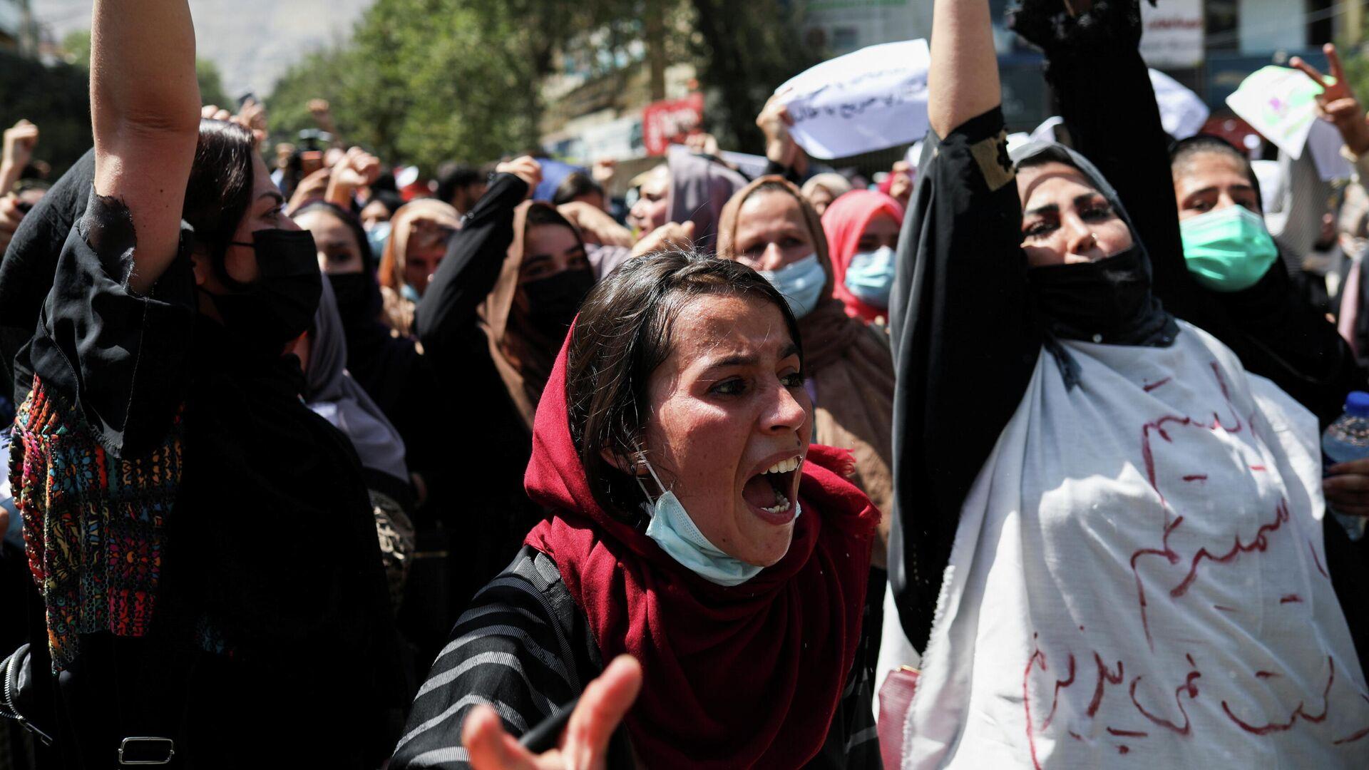 Las mujeres afganas protestan en Kabul - Sputnik Mundo, 1920, 08.09.2021