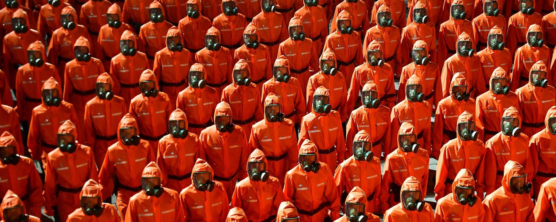 Военный парад в честь 73-й годовщины основания КНДР - Sputnik Mundo, 1920, 09.09.2021