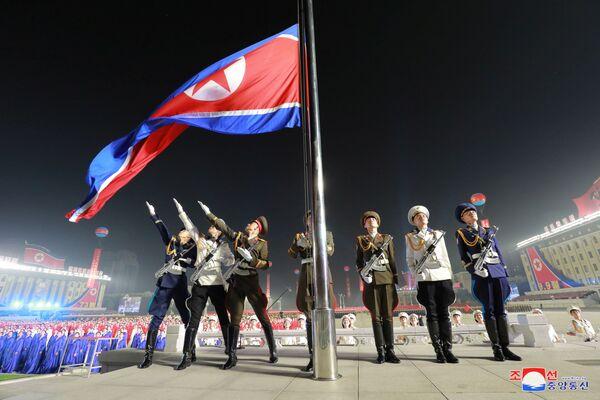El evento castrense ocurrió a primera hora del 9 de septiembre en la plaza Kim Il-sung en Pyongyang, la capital norcoreana, según informó la agencia de noticias estatal. - Sputnik Mundo