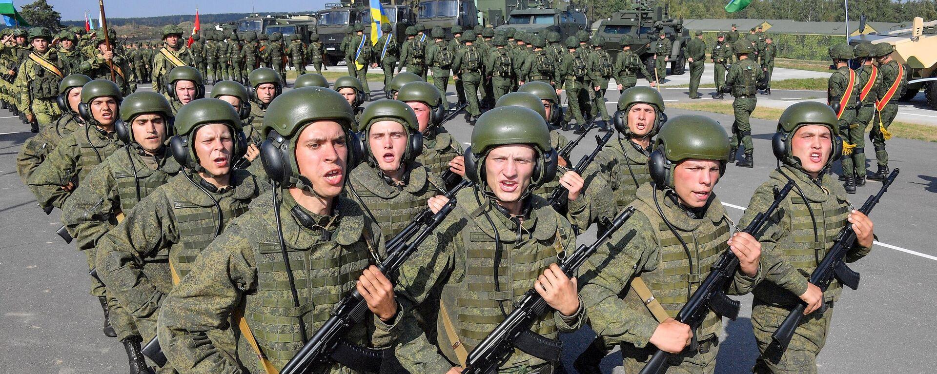 Ceremonia de apertura de los ejercicios militares conjuntos de Rusia y Bielorrusia Zapad 2021  - Sputnik Mundo, 1920, 10.09.2021